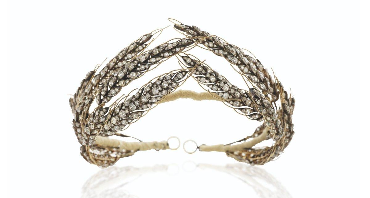 """Nitot Early 19th Century Diamonds """"Ears of Wheat"""" Tiara"""
