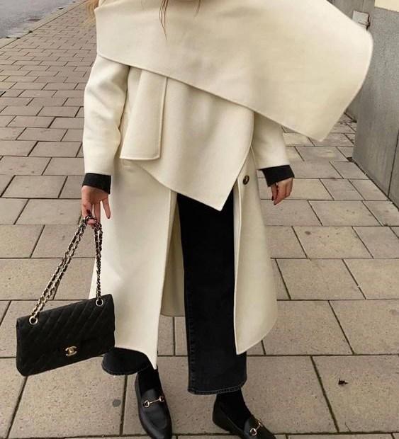 Παλτό σετ με κασκόλ: το style trick που βλέπουμε παντού - The Cover