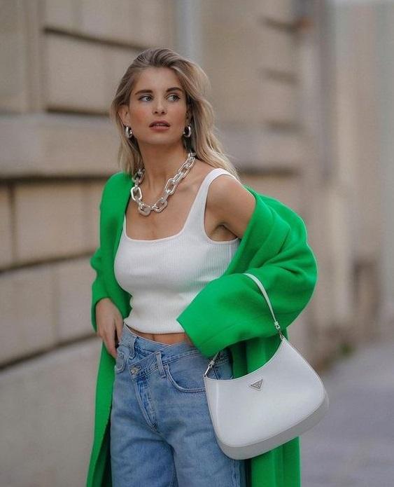 Casual chic looks με πράσινο χρώμα για την εβδομάδα - The Cover