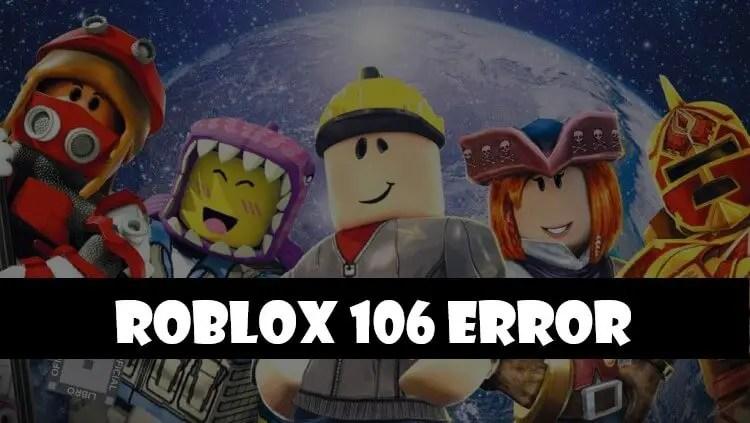 xbox roblox error code 106