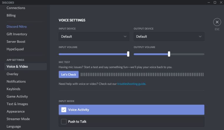voice and video discord