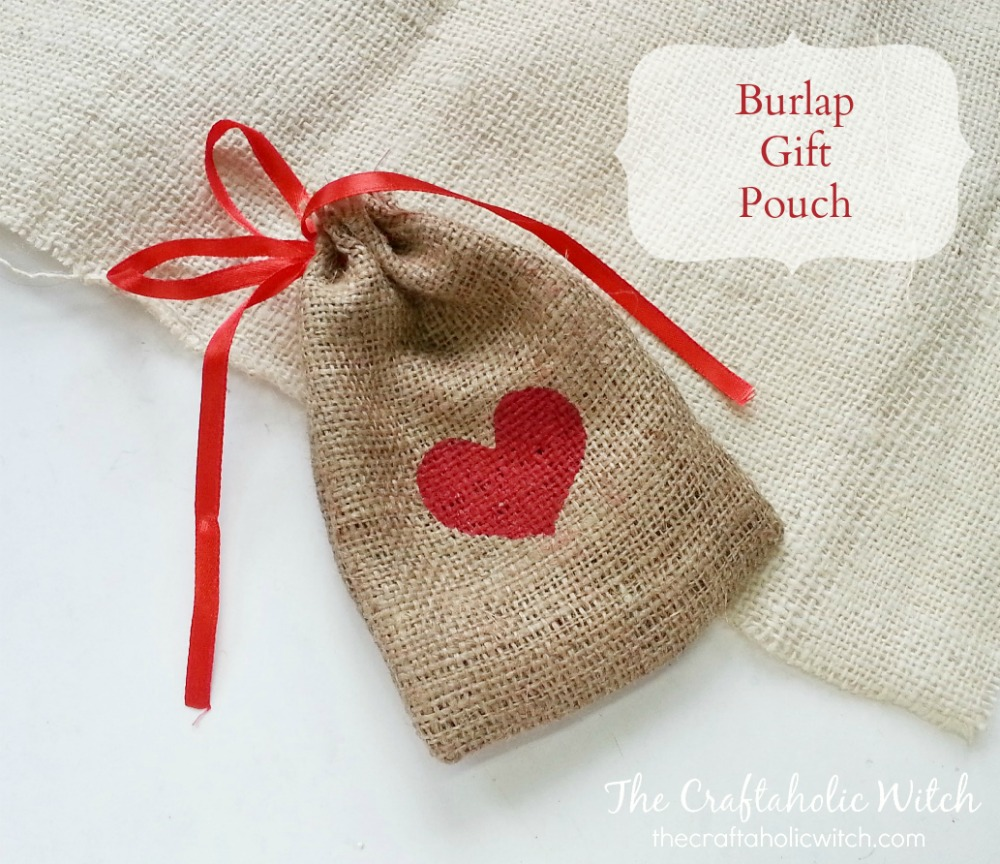 Create Burlap Gift Pouch