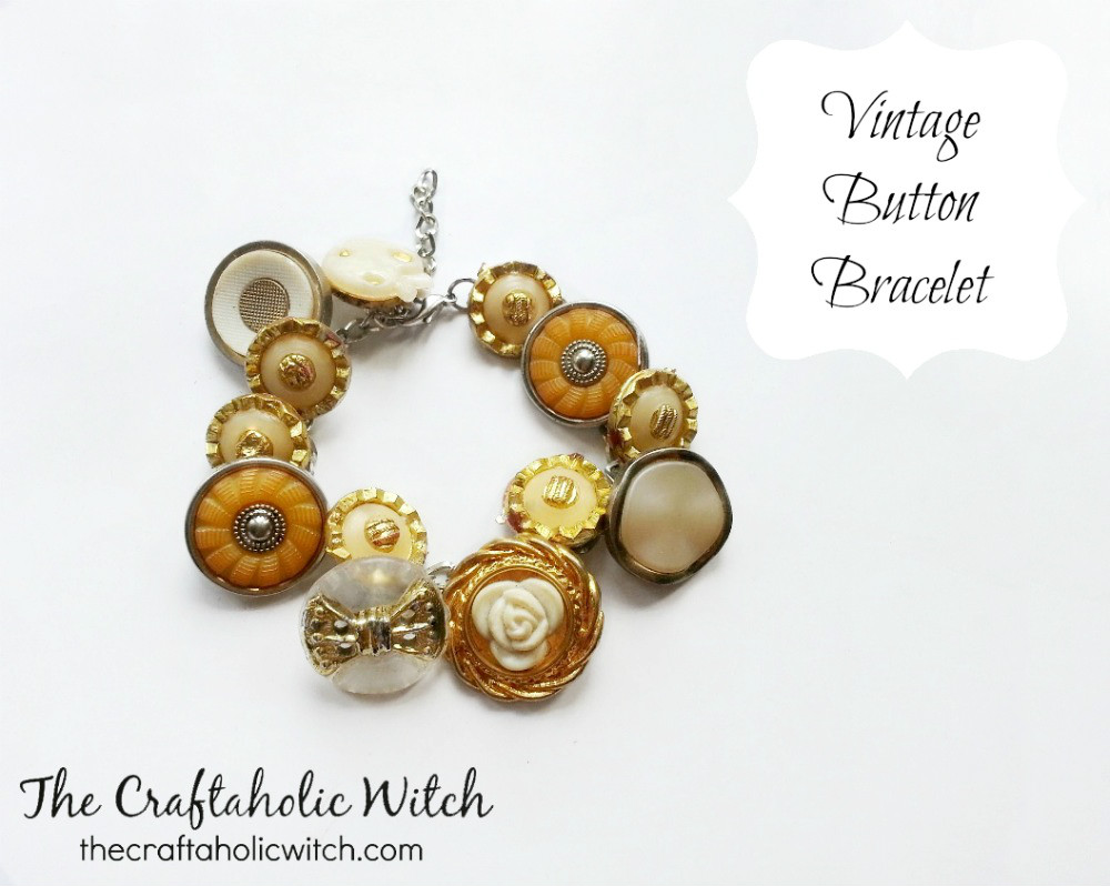 Create Vintage Button Bracelet