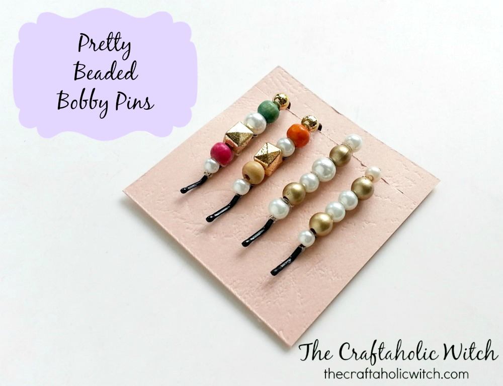 Create Pretty Beaded Bobby Pins