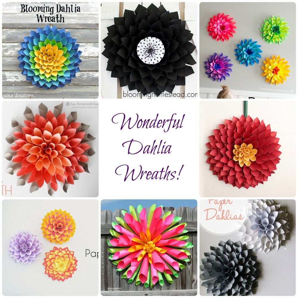 8 Wonderful Dahlia Wreaths!