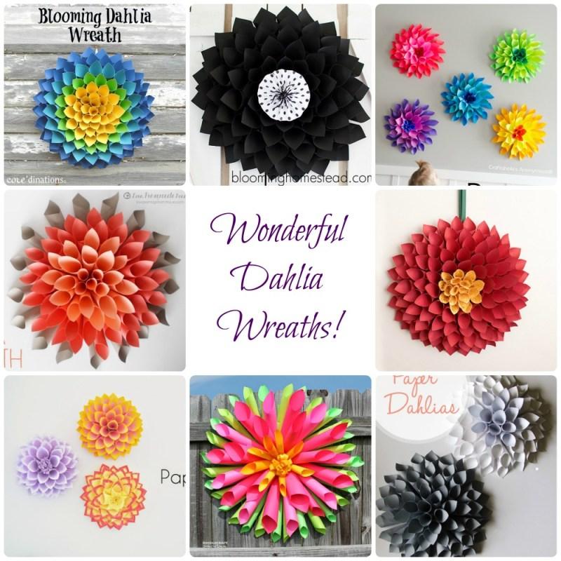 dahlia wreaths