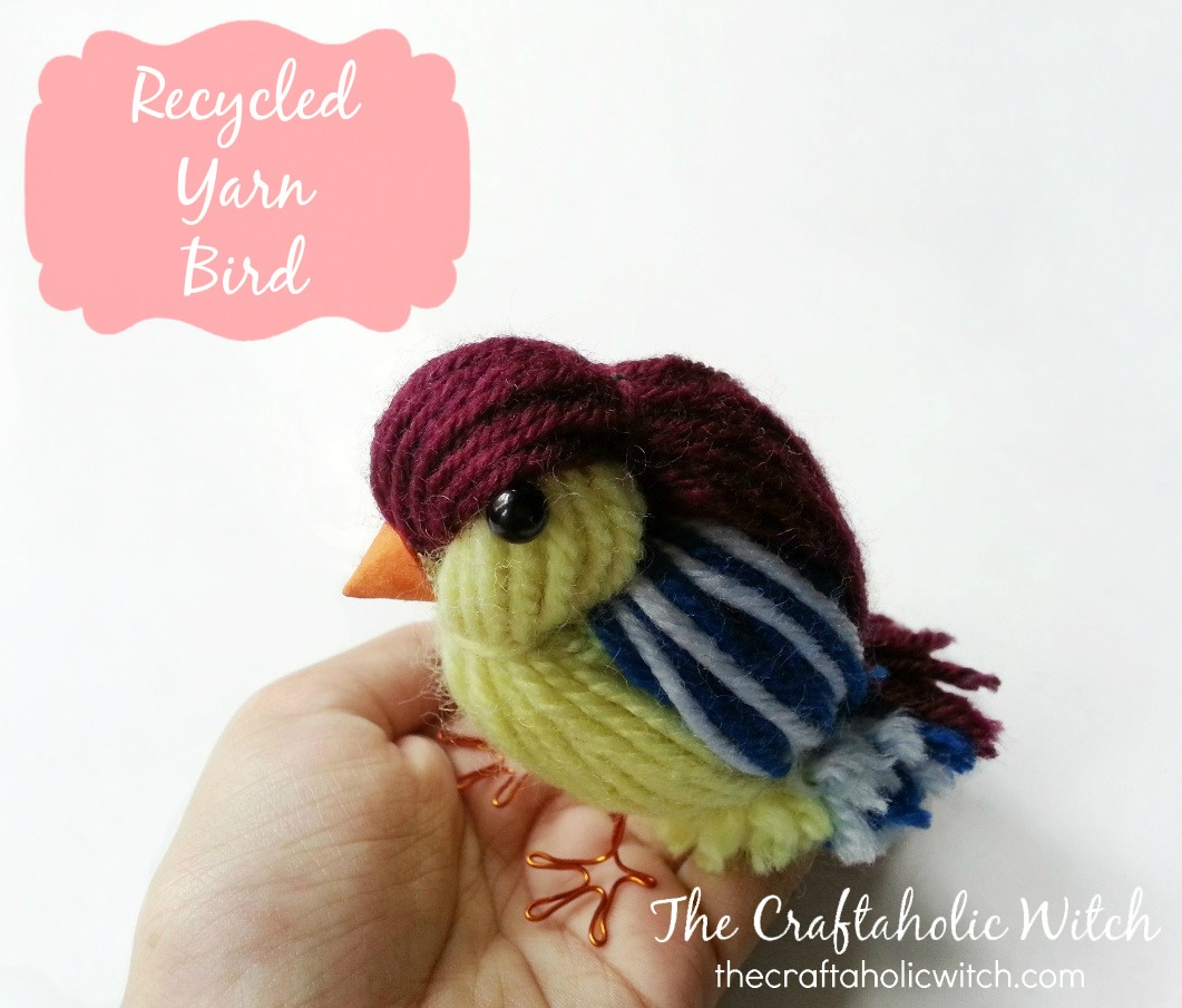 Create a Cute Recycled Yarn Bird