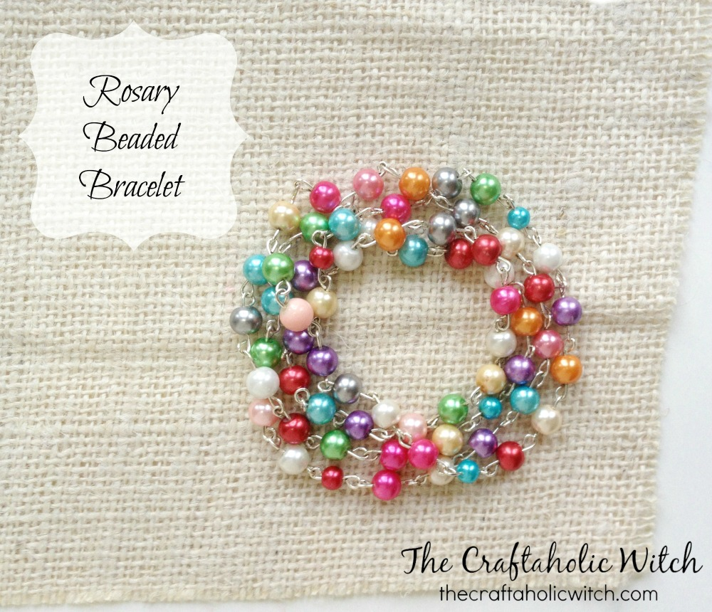 Create Colorful Rosary Beaded Bracelet