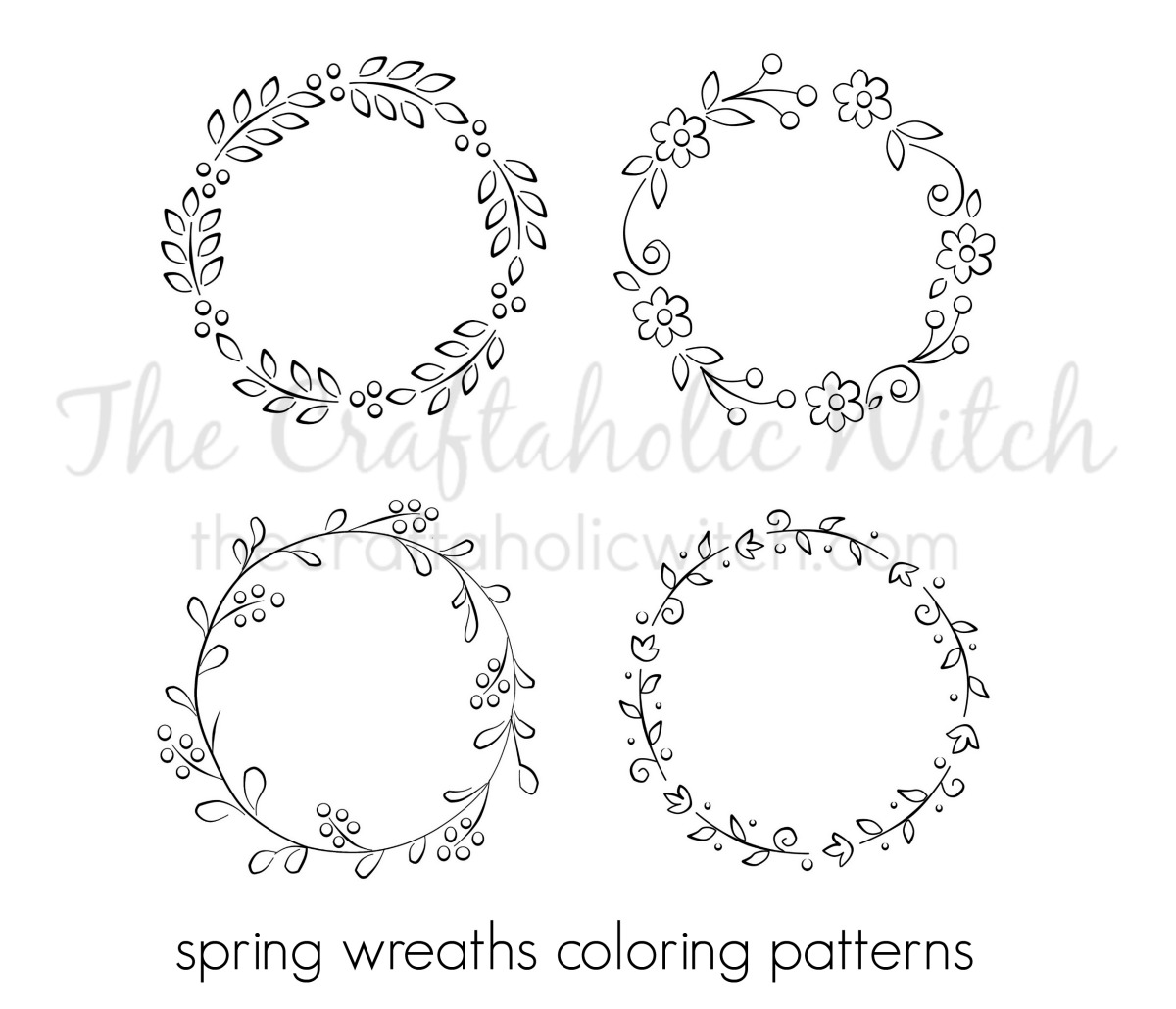 The Craftaholic WitchSpring Wreath