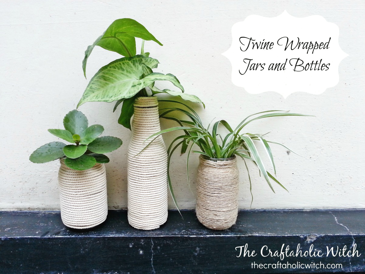 Create Twine Wrapped Jars and Bottles