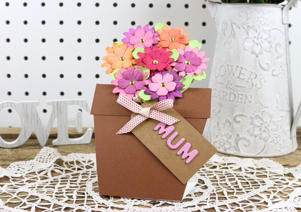 medium resolution of card shape of the month flower pot card with free printable template