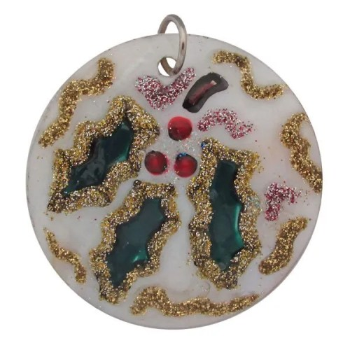 Holly-Pendant Round Shell