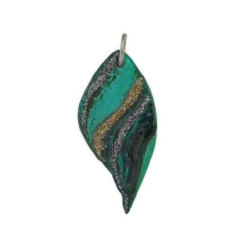 Leaf-Ceramic Pendant