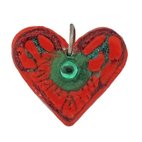 Orange-Heart Pendant