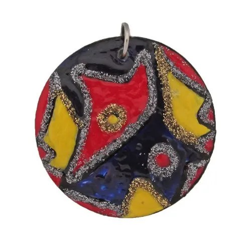 Round Abstract Design Pendant