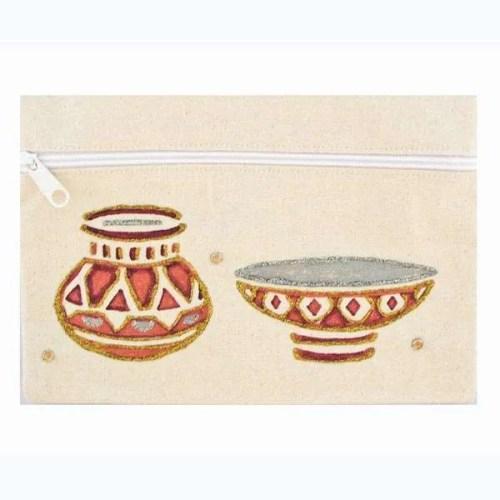 African-Pots Cosmetic Bag