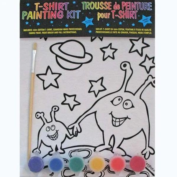 Kids Martians T-Shirt Painting Kit