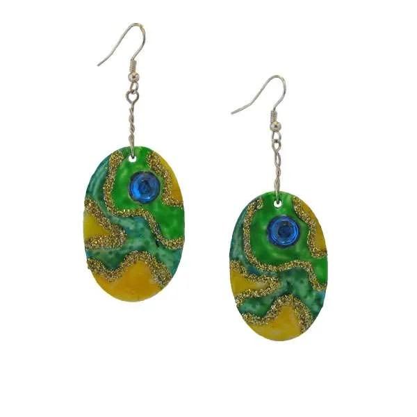 Green-earrings