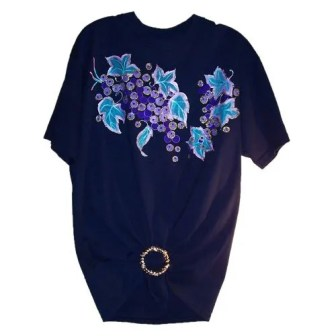 Blue-Flowers Adult T Shirt
