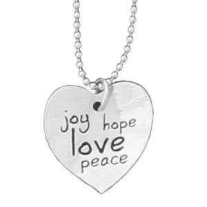 Joy Hope Love Peace Necklace