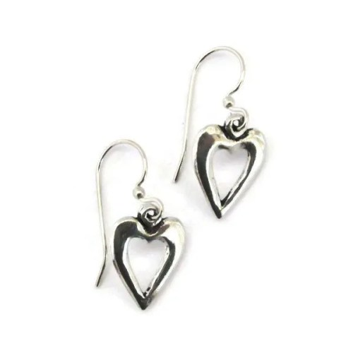 Small Open-Heart-Earrings
