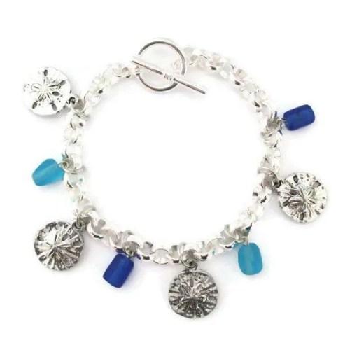 Multi-Charm Sand Dollar-Bracelet
