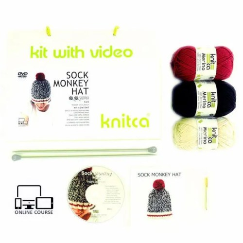Sock Monkey Hat Kit