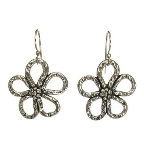 flower wire earrings