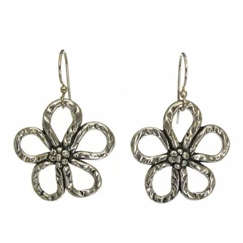 flower wire earrings