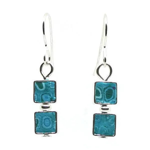 Turquoise Blue Mosaic Earrings