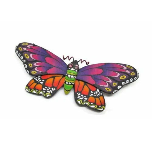 Multi-Coloured Butterfly Brooch