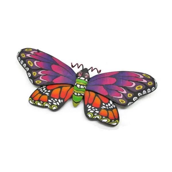 Multi-Coloured Butterfly Brooch