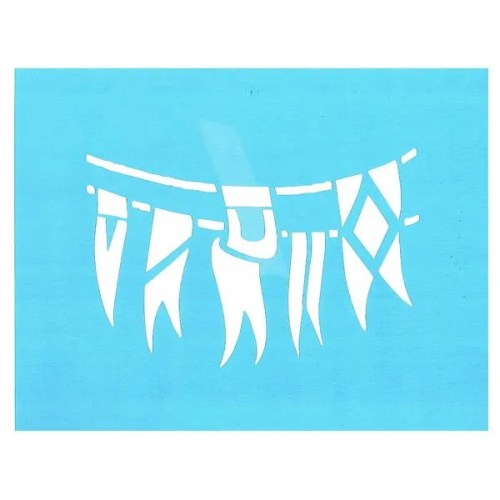 Nautical Pennants Stencil