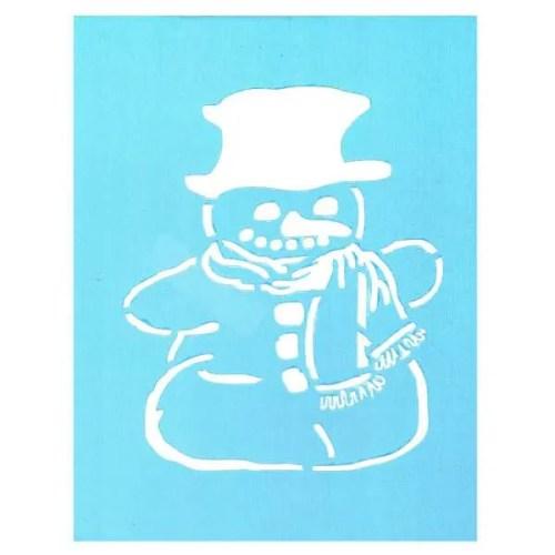 Snowman Stencil