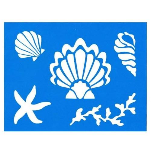 Summer Shells Stencil