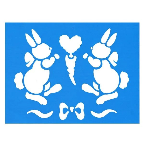 Bunny Border Stencil