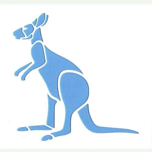 Kangaroo Stencil