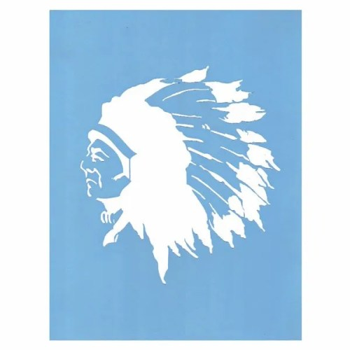Proud Chief Stencil