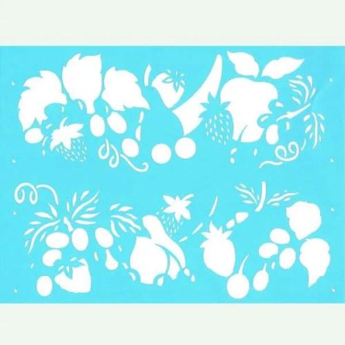 Refreshing Fruit Stencil