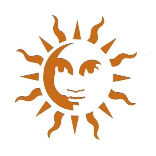 Sun Face Stencil