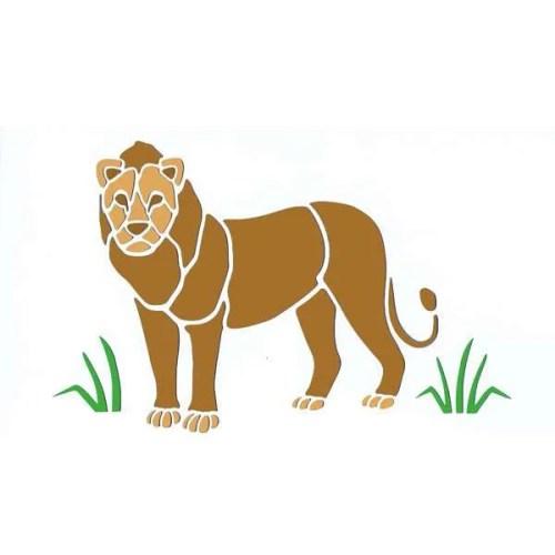 African Lion Stencil