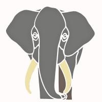 Elephant Head Stencil