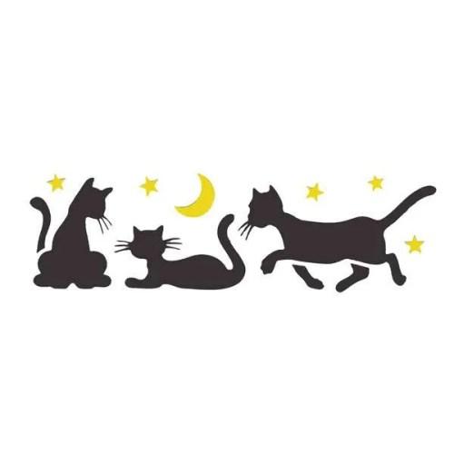 Night Cats Stencil