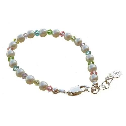 Baby Bracelet Crystal Pearl