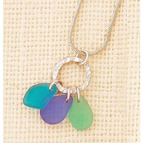 Blue Seaglass Necklace