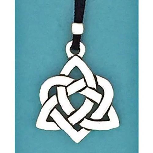 Celtic Heart Pewter Pendant