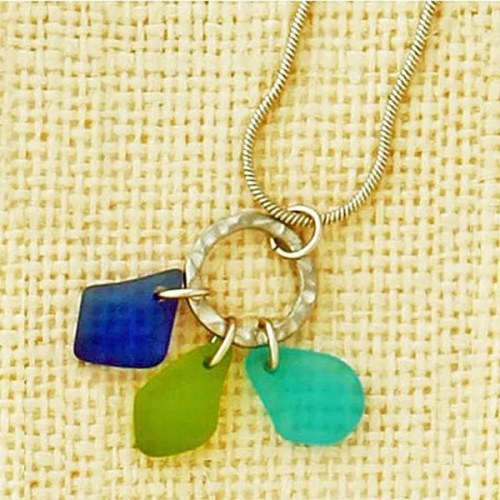 Green Seaglass Necklace