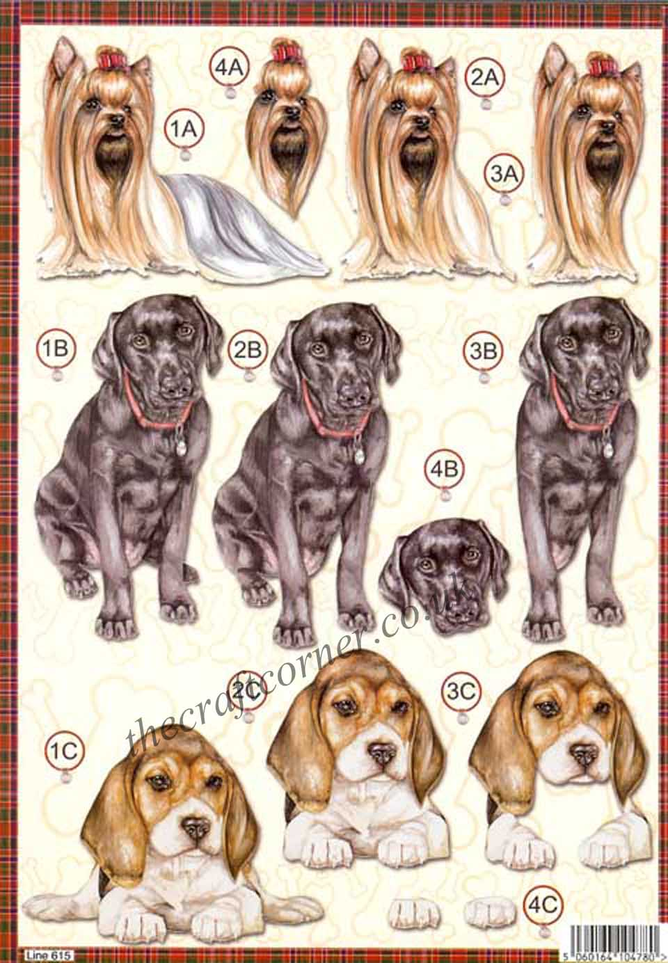 Labrador Dog Die Cut 3d Decoupage Sheet From Craft UK Ltd