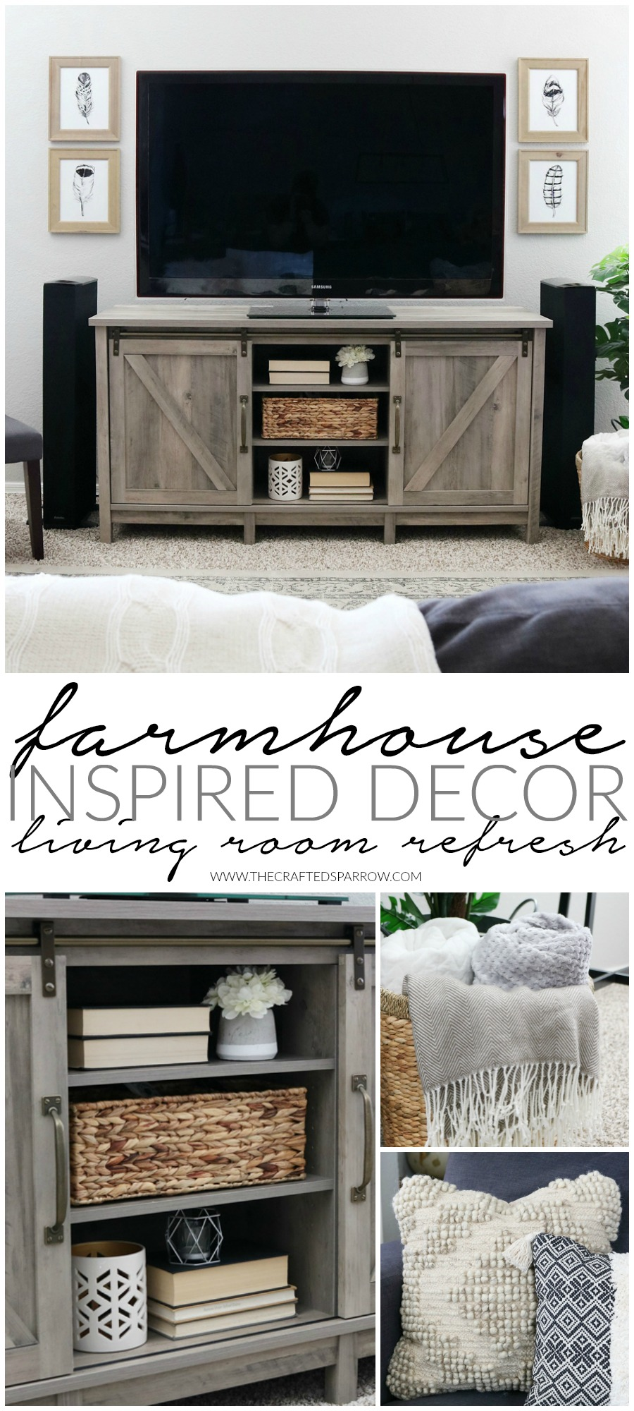 decor for living room off white sets easy farmhouse inspired refresh