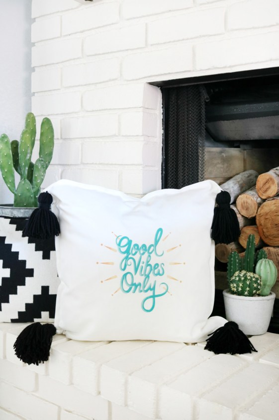 Cricut Iron-on Designs Pillow